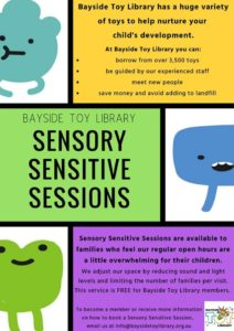 Sensory Sensitive Sessions – next session on Aug 3rd, between 12pm-1pm