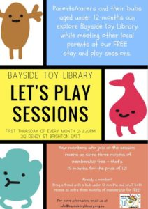 Let's Play – next session on Aug 2nd, between 2pm-3.30pm