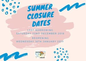 Summer Closure Dates