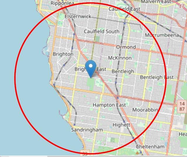 5km radius BTL